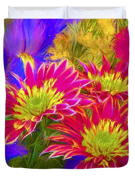 Floral Bouquet 11 Photoart Duvet Cover