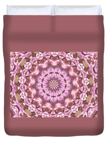Duvet Cover featuring the photograph Floral Burst by Shirley Moravec