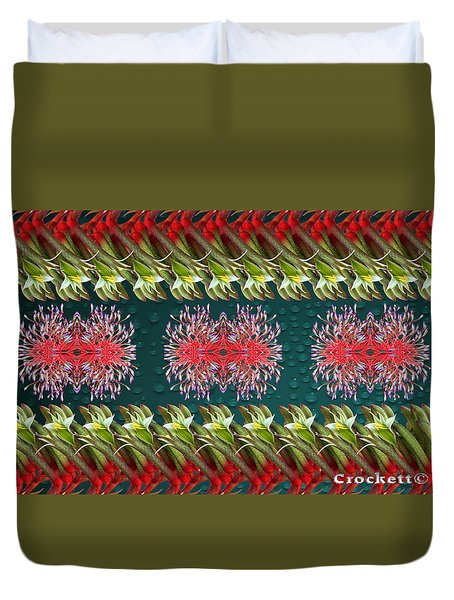 Floral Contemporary Art Duvet Cover