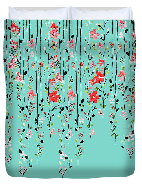 Floral Dilemma Duvet Cover