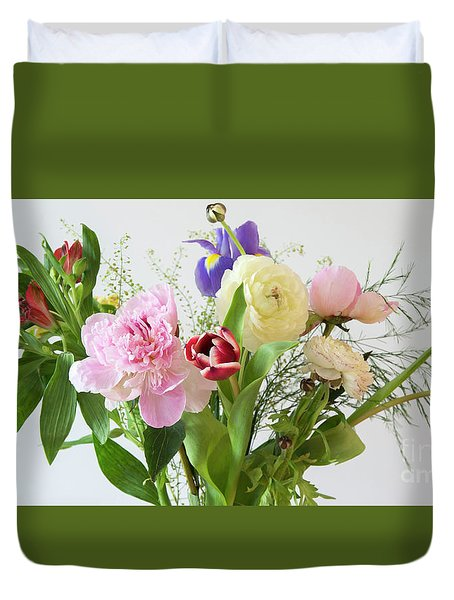 Duvet Cover featuring the photograph Floral Display by Wendy Wilton