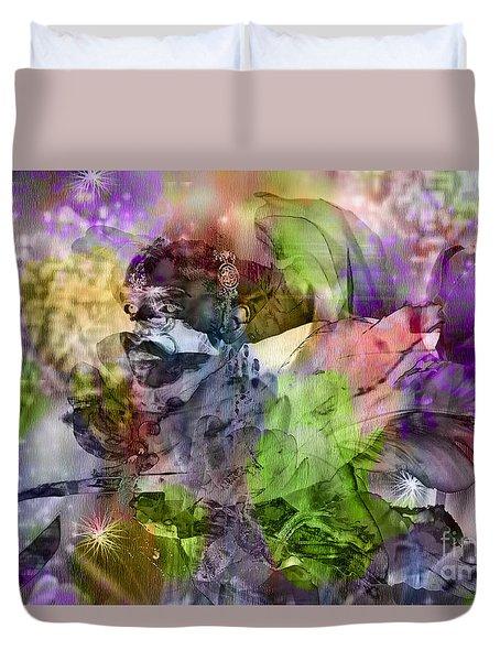 Floral Dream Of Oriental Beauty Duvet Cover