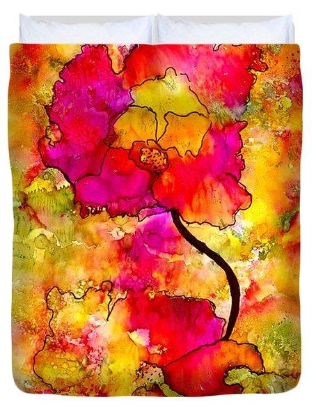 Floral Duet Duvet Cover