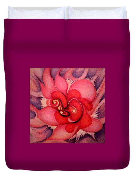 Floral Energies Duvet Cover
