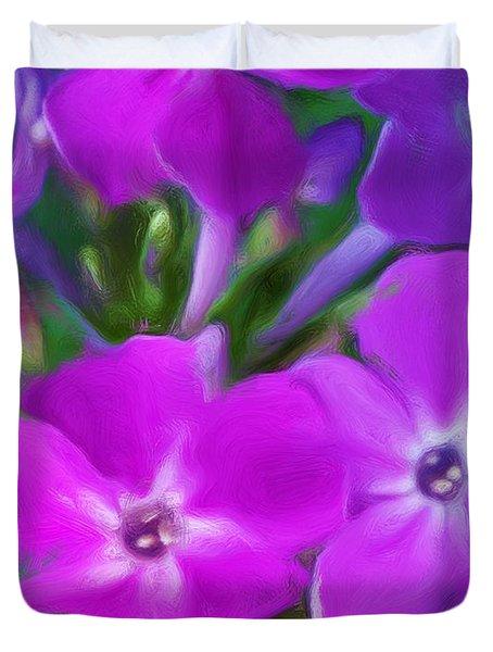 Floral Expression 2 021911 Duvet Cover by David Lane