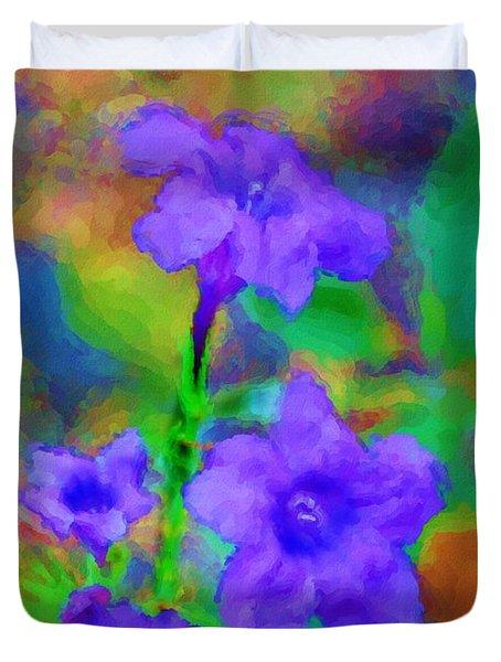 Floral Expression Duvet Cover by David Lane