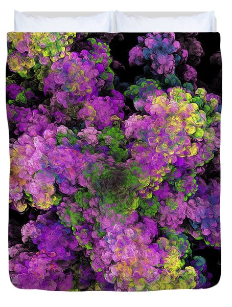 Duvet Cover featuring the digital art Floral Fancy Abstract by Andee Design