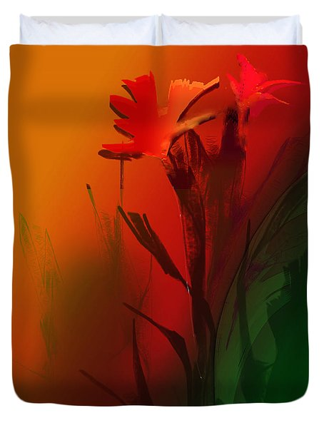 Floral Fantasy Duvet Cover by Asok Mukhopadhyay