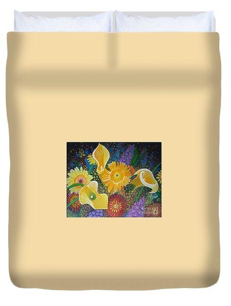 Floral Fireworks Duvet Cover