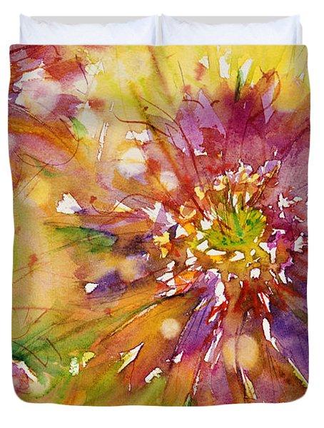 Floral Fireworks Duvet Cover by Judith Levins