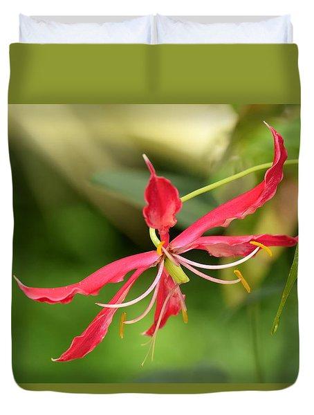 Floral Flair Duvet Cover by Deborah  Crew-Johnson