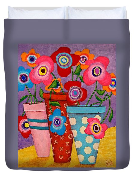 Floral Happiness Duvet Cover by John Blake