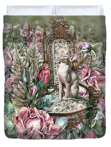 Floral Kitty Chair Duvet Cover