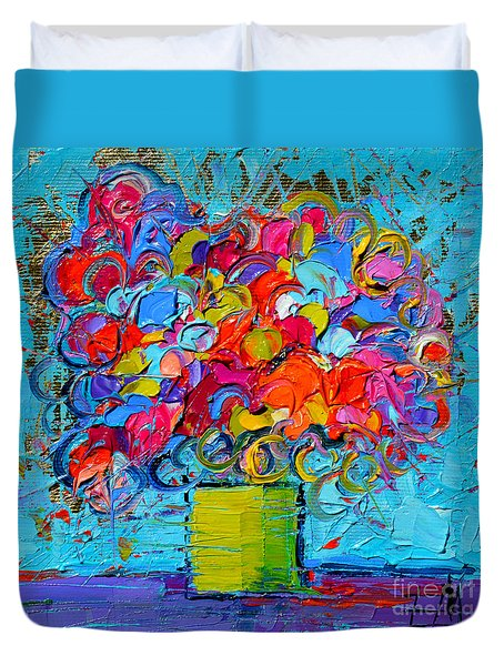 Floral Miniature - Abstract 0415 Duvet Cover