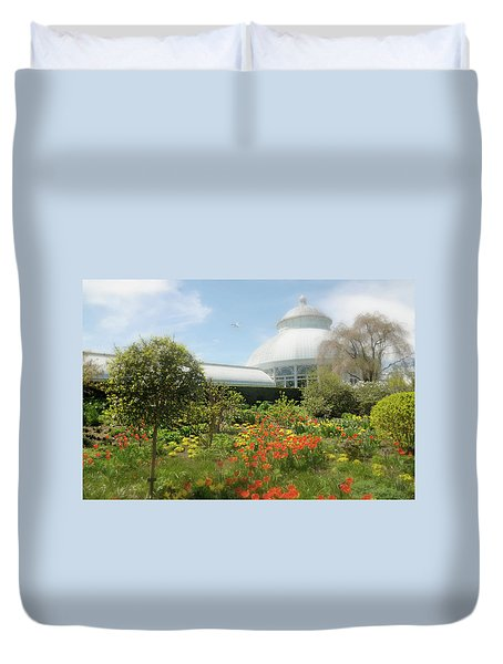 Duvet Cover featuring the photograph Floral Notes by Diana Angstadt