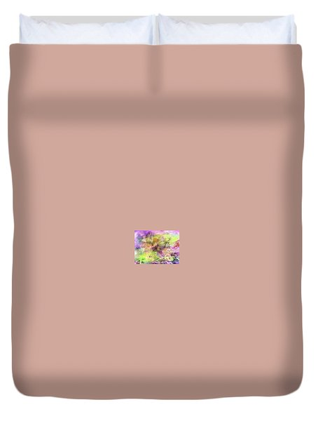 Floral Pastel Abstract Duvet Cover