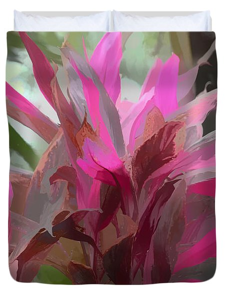 Duvet Cover featuring the photograph Floral Pastel by Tom Prendergast