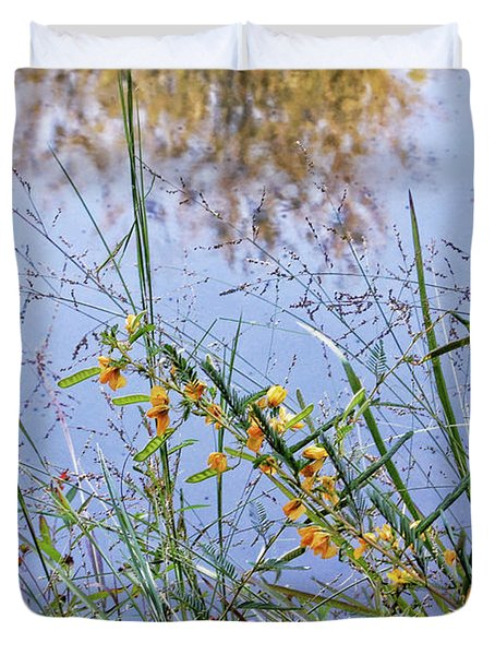 Floral Pond  Duvet Cover