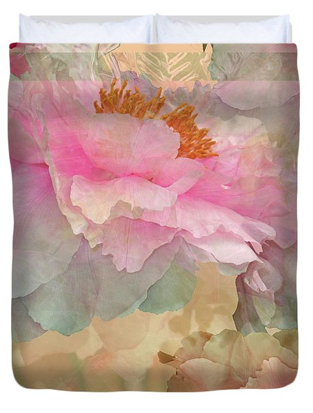 Floral Potpourri With Peonies 10 Duvet Cover