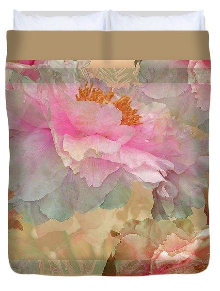 Floral Potpourri With Peonies 10 Duvet Cover