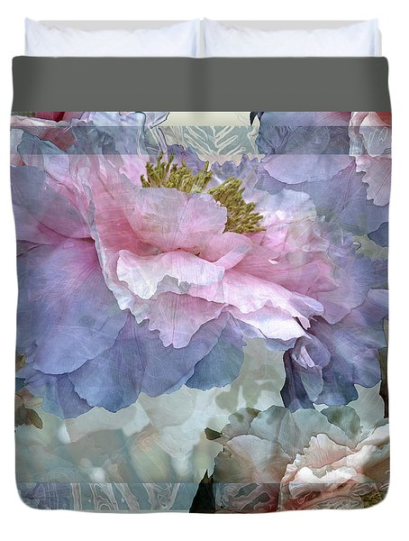 Floral Potpourri With Peonies 24 Duvet Cover