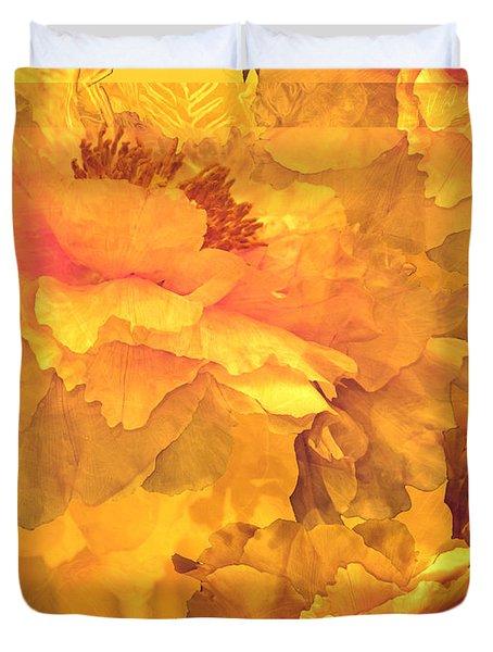 Floral Potpourri With Peonies 32 Duvet Cover