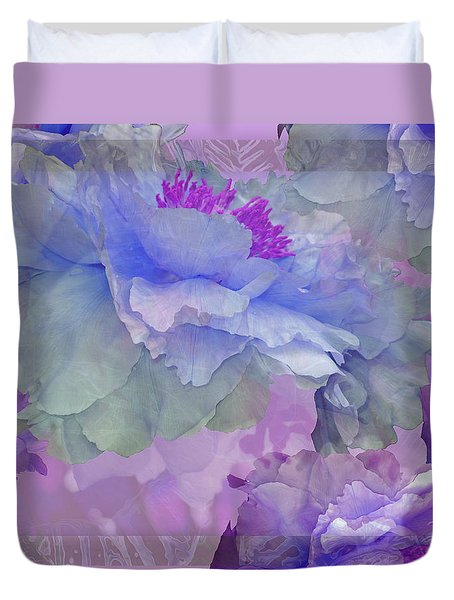 Floral Potpourri With Peonies 4 Duvet Cover