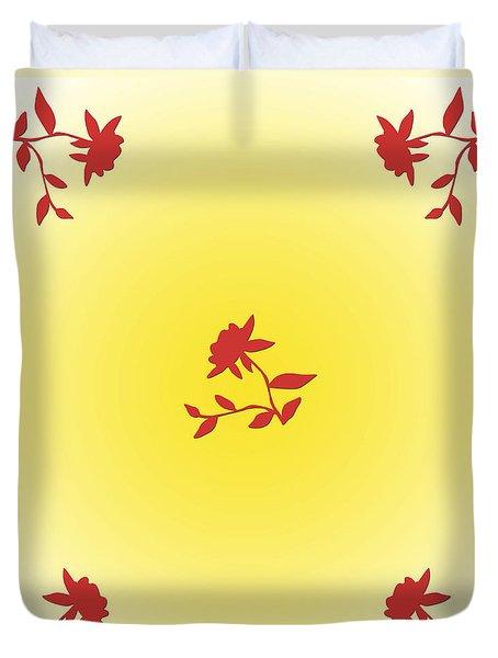 Duvet Cover featuring the digital art Floral Simplicity by Karen Nicholson
