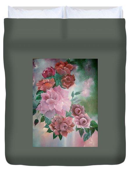 Floral Splendor Duvet Cover