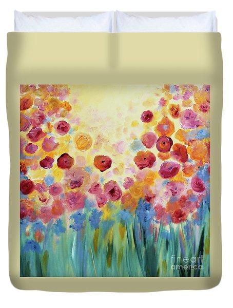 Floral Splendor II Duvet Cover
