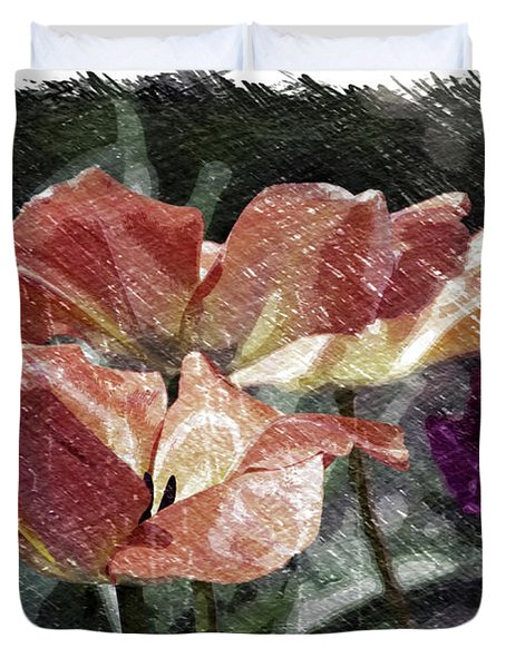 Floral Spring Tulips 2017 Pa 02 Duvet Cover