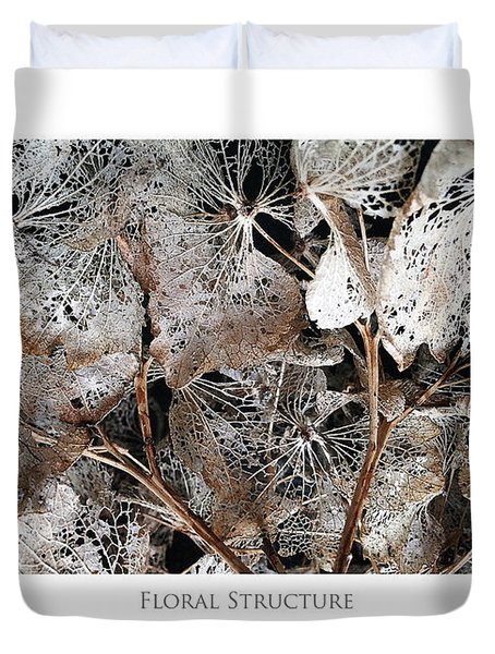 Duvet Cover featuring the digital art Floral Structure by Julian Perry