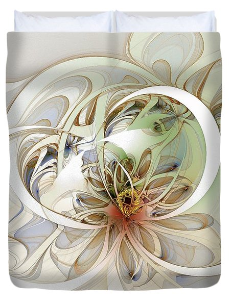 Floral Swirls Duvet Cover by Amanda Moore