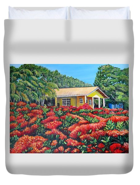 Floral Takeover Duvet Cover by Marilyn McNish