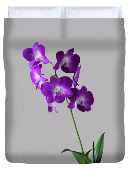 Duvet Cover featuring the photograph Floral by Tom Prendergast