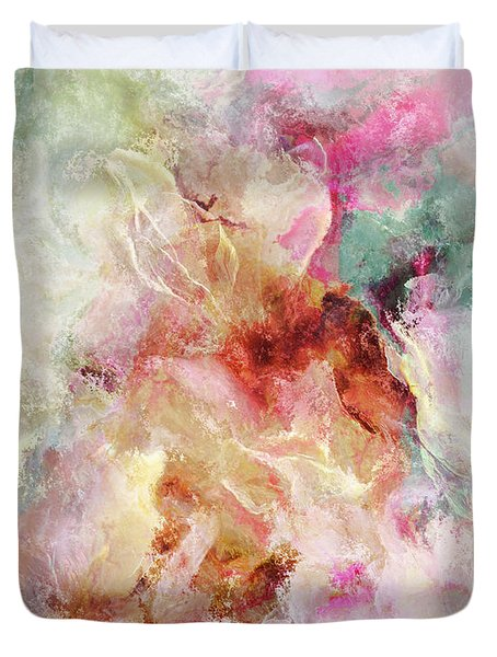 Floral Wings - Abstract Art Duvet Cover