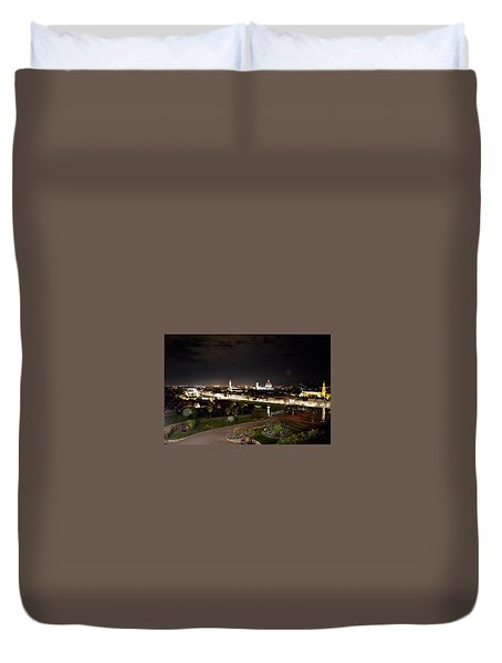 Florence At Night Duvet Cover