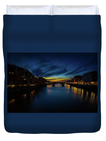 Florence At Sunset Duvet Cover