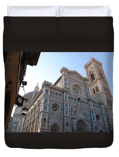 Duvet Cover featuring the photograph Florence Cathedral by Robert  Moss