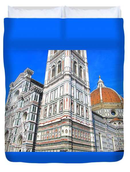 Florence Duomo Cathedral Duvet Cover by Lisa Boyd