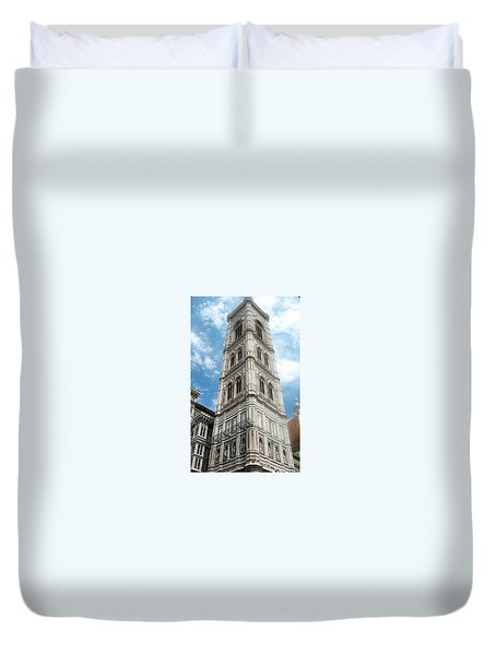 Florence Duomo Tower Duvet Cover by Lisa Boyd