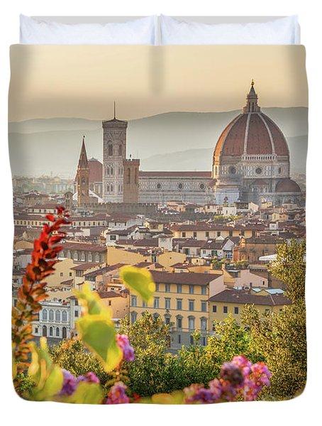 Florence In Summer Duvet Cover