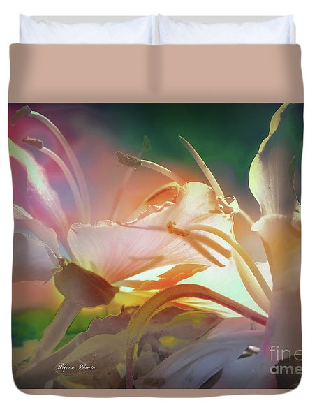 Duvet Cover featuring the photograph Flores De Andalucia by Alfonso Garcia