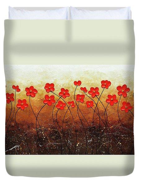 Flores De Mi Jardin Duvet Cover
