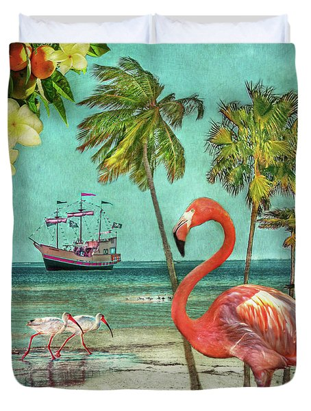 Duvet Cover featuring the photograph Florida Advertisement by Hanny Heim