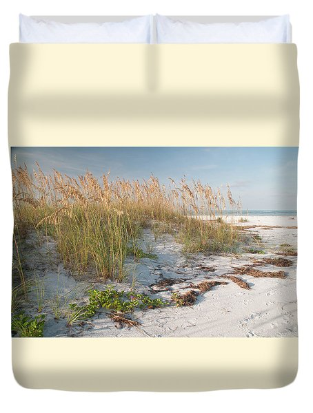 Florida Beach And Sea Oats Duvet Cover