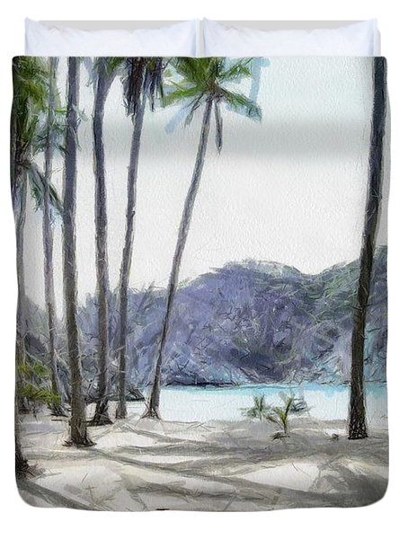 Florida Beach Duvet Cover by Murphy Elliott