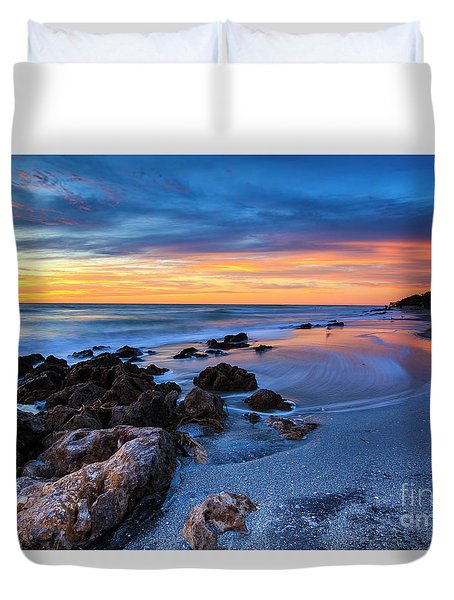 Florida Beach Sunset 3 Duvet Cover