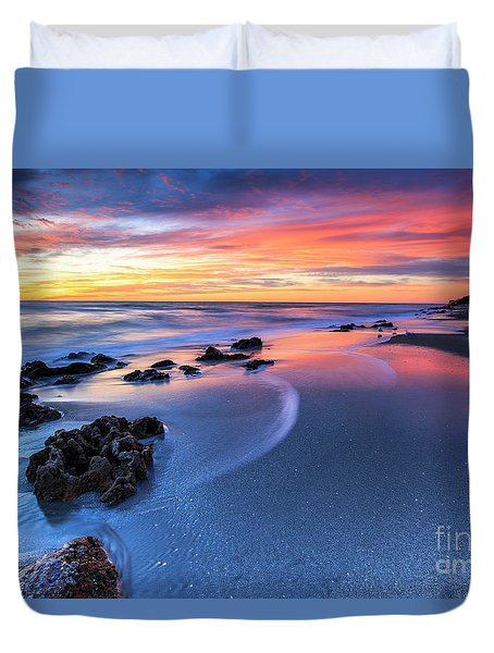 Florida Beach Sunset 4 Duvet Cover