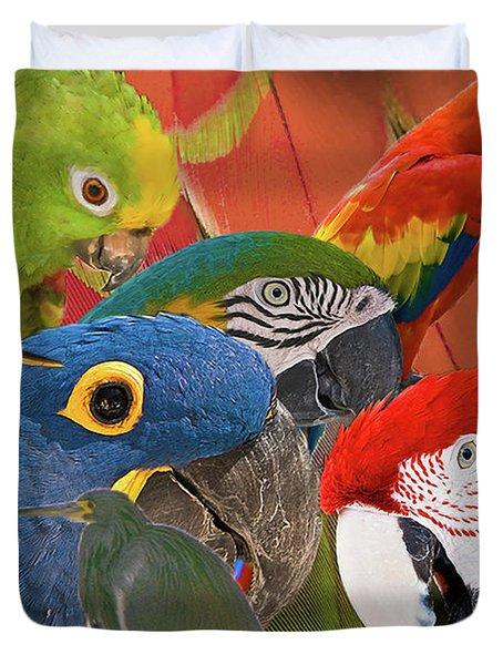 Florida Birds Duvet Cover